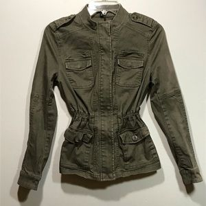 Express Military Style Jacket with Cinch Waist
